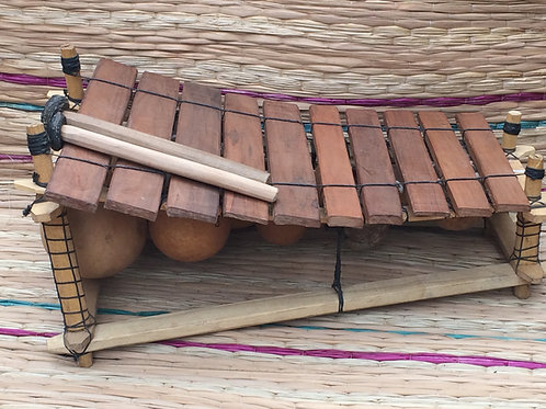 Ghanian Wooden 10 Key Xylophone