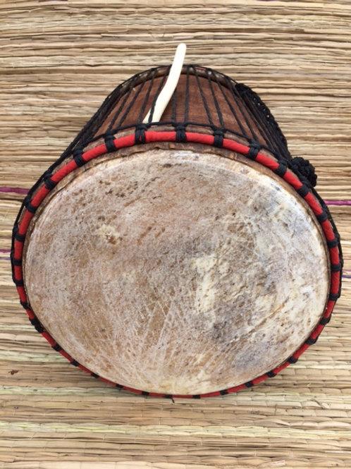 """African Dundun Drum - Carved - Dundumba 16"""""""