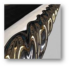Mirror polished drilling rotor hvof carbide