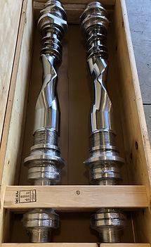 chrome carbide mixing rotors screws