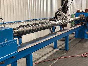 Extruder Screw polishing grinding
