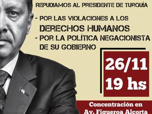 Repudio a Erdogan en Argentina