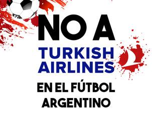 NO a Turkish Airlines en el fútbol argentino
