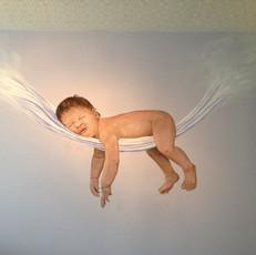 Baby Mural in Detroit, Michigan