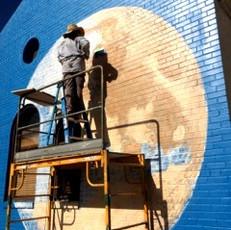 Mural at Rahda Govindas Restaurant