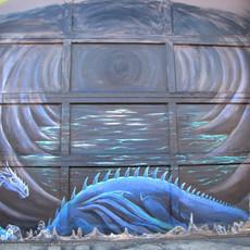 Dragon Lair on Garage door