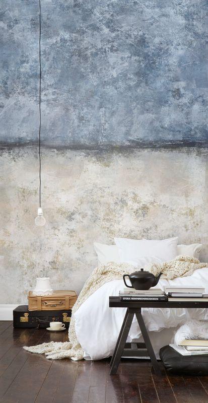 טפט בסגנון אורבני לחדר שינה עם טוויסט