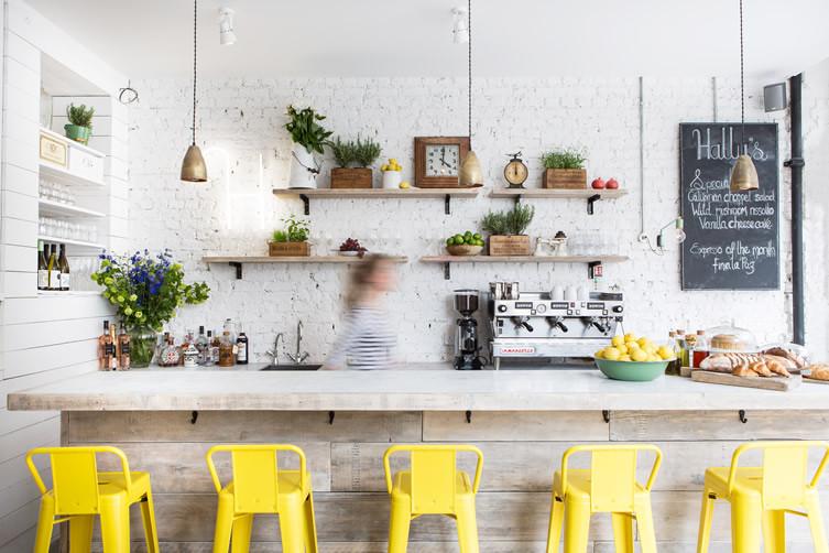 עיצוב פנים בית קפה במערב לונדון interior design restaurant