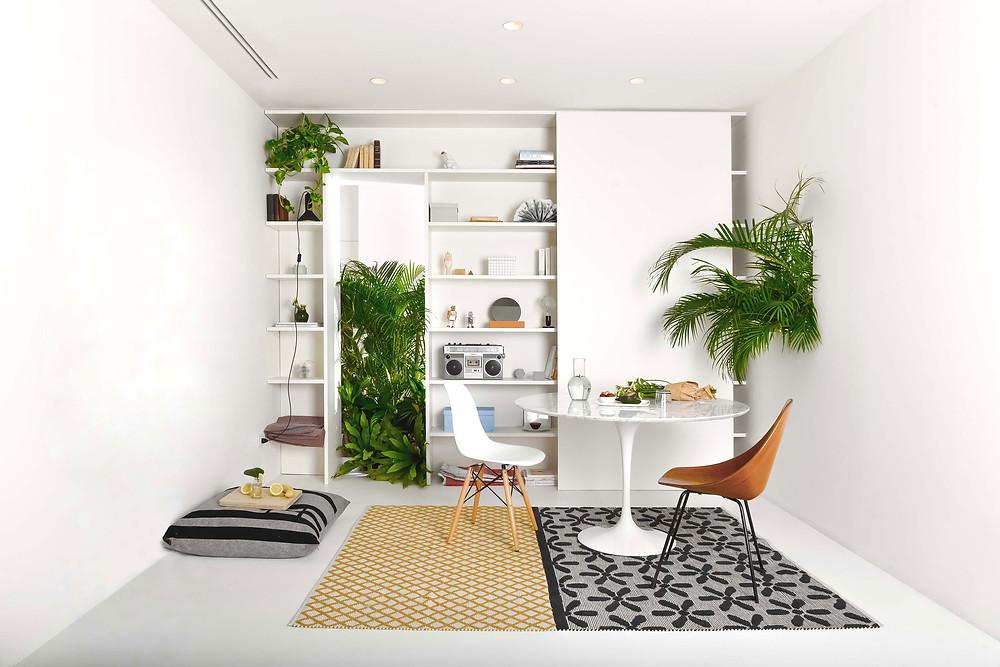 עיצוב פנים לדירה בברזיל, פינת ישיבה