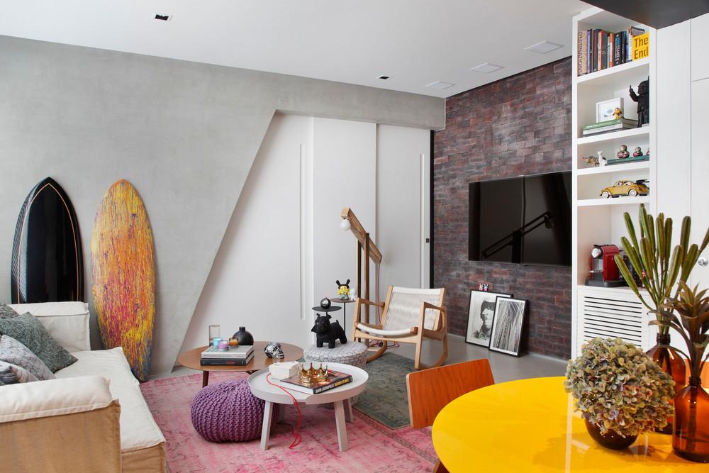 עיצוב פנים לדירה בריו - סלון