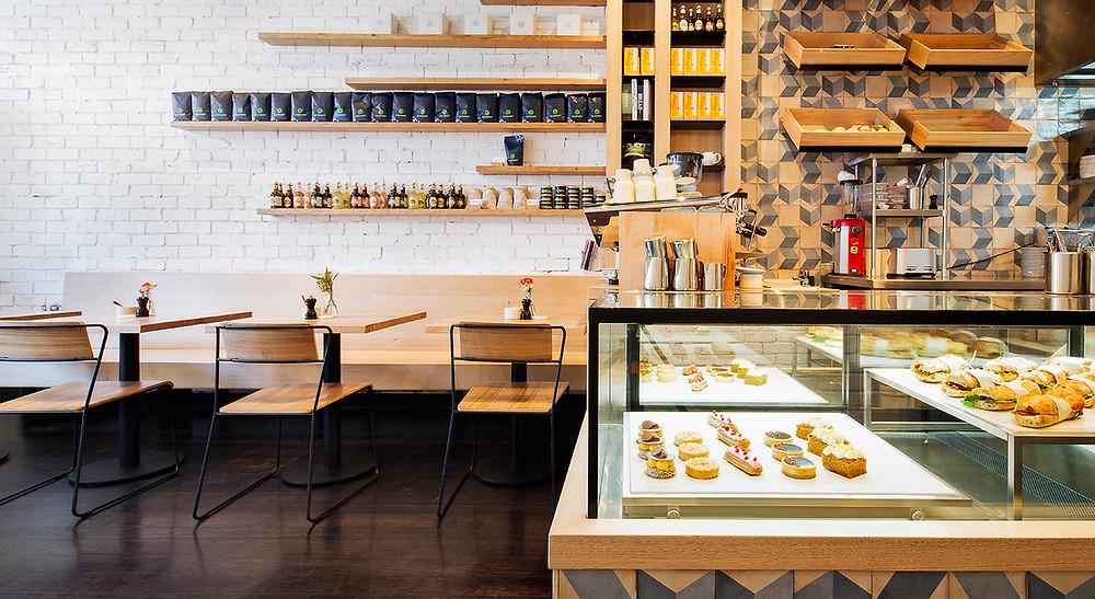 עיצוב פנים בית קפה  interior design restaurant