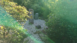 Quiet spaces in the Millennium Garden, Auchencairn