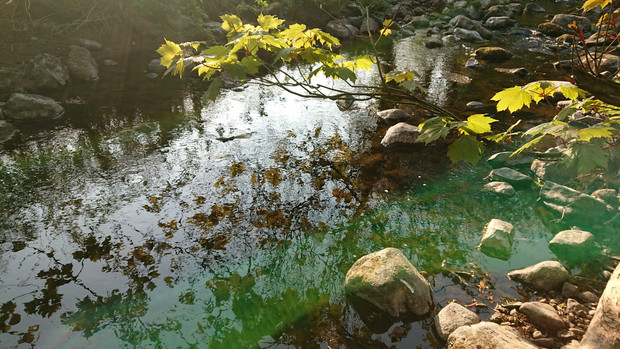 Spring water pool