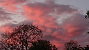 Sunset from The Corn Mill Studio garden