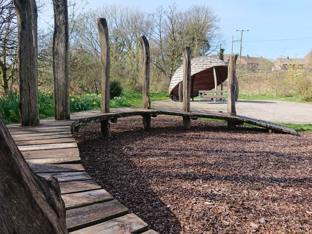 Free play and outdoor classroom in the community permaculture garden