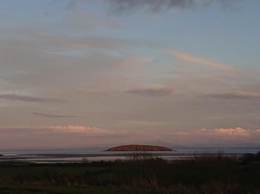Heston Island sunset view from Auchencairn