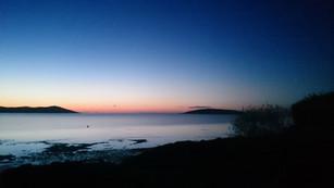 Sunrise on the beach, Auchencairn Bay