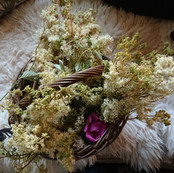 Foraged Meadowsweet and Roses