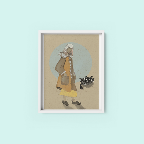 Lady with the silver hair - Print on archival fine art paper