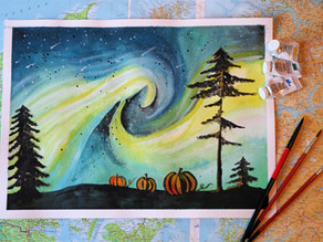 October Musing: Paint along with me and lets talk about stepping on the brakes.