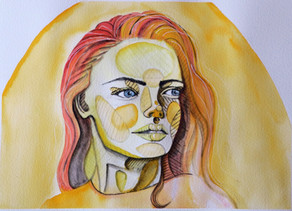 December Musing: Painting a portrait in Gouache