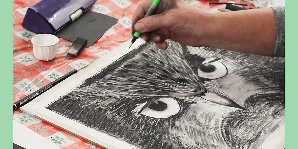 Mindful Charcoal Drawing Workshop for beginners - 11 February