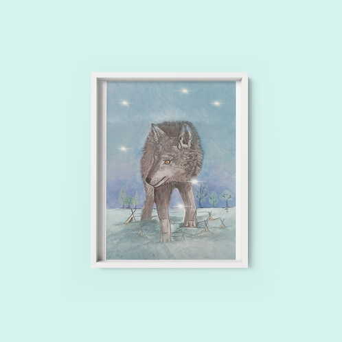 Midwinter Wolf - Print on archival fine art paper