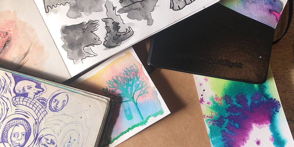 ONLINE - Fill a Sketchbook with me - whales