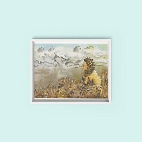 Steppe Lion - Print on archival fine art paper