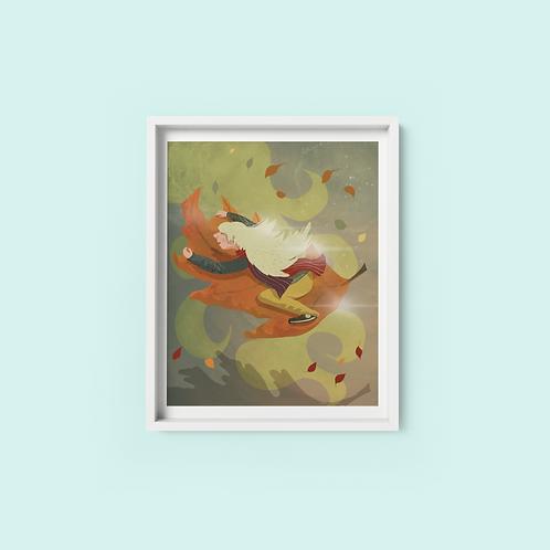 Autumn Girl - Print on archival fine art paper