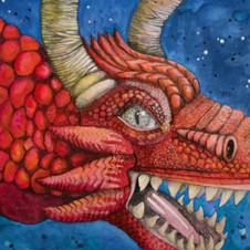 dragon in the sky - book illustration