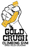Die Cut Gold Crush Fist Logo with Text.j