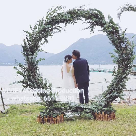 Outdoor Wedding Ceremony at Garden Farm