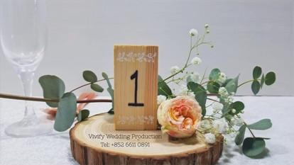 婚禮鮮花枱花佈置 Fresh Floral Table Centerpieces