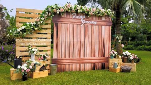婚禮佈置 九龍仔公園 Wedding Backdrop