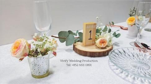 婚禮佈置鮮花枱花 Wedding Fresh Floral Table Cent