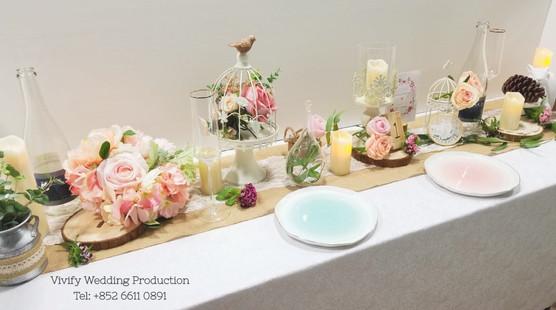 婚禮佈置枱花 Wedding Table Centerpieces