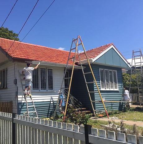 Queenslander under renovation