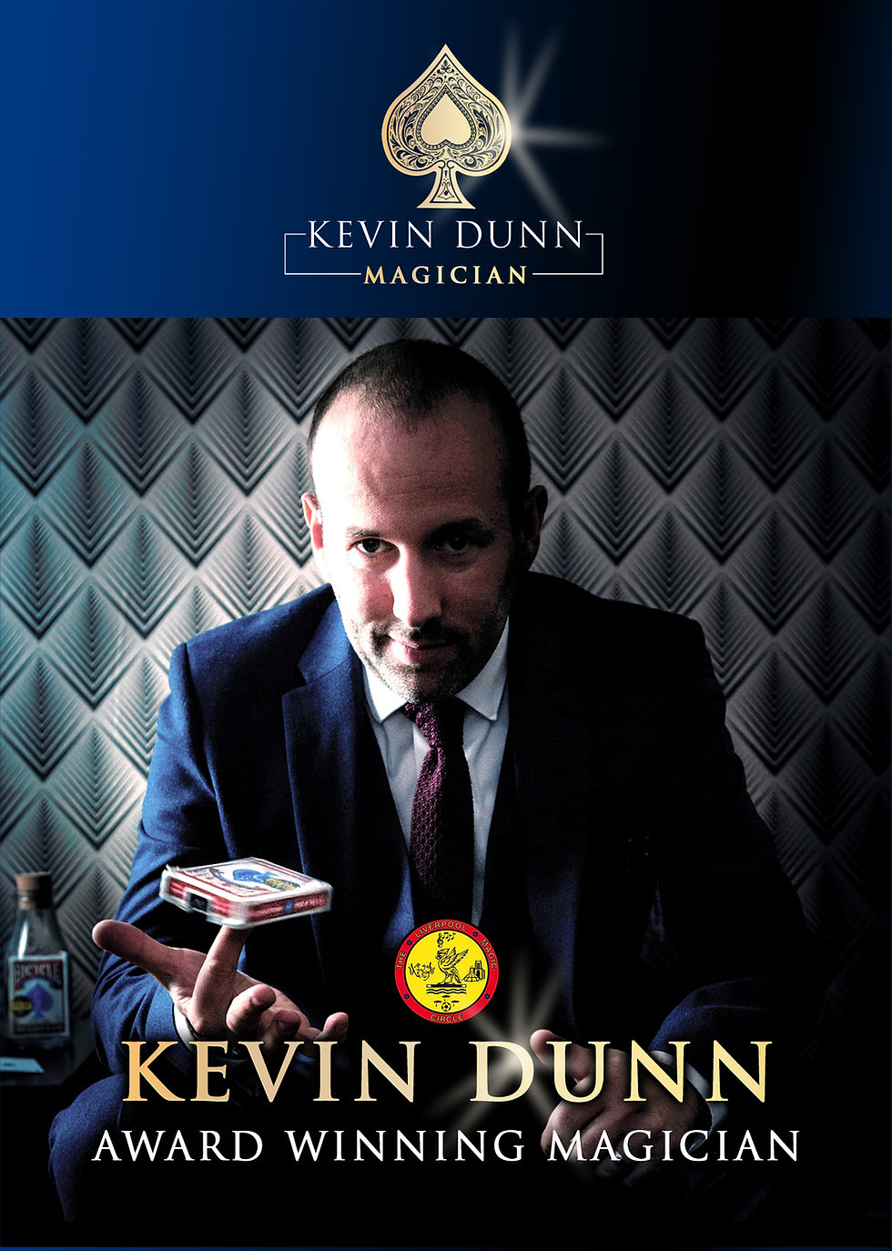 Kev Dunn Magician, Award winning Close up Magician from Liverpool