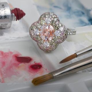 Antique Pink Diamond Ring.
