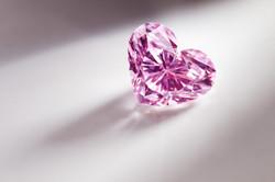 Heart Cut Pink Diamond.