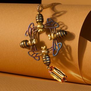 Topaz Bee Pendant.