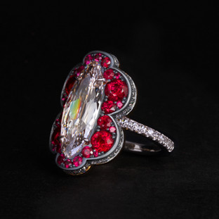 Golconda Diamond and Ruby ring.