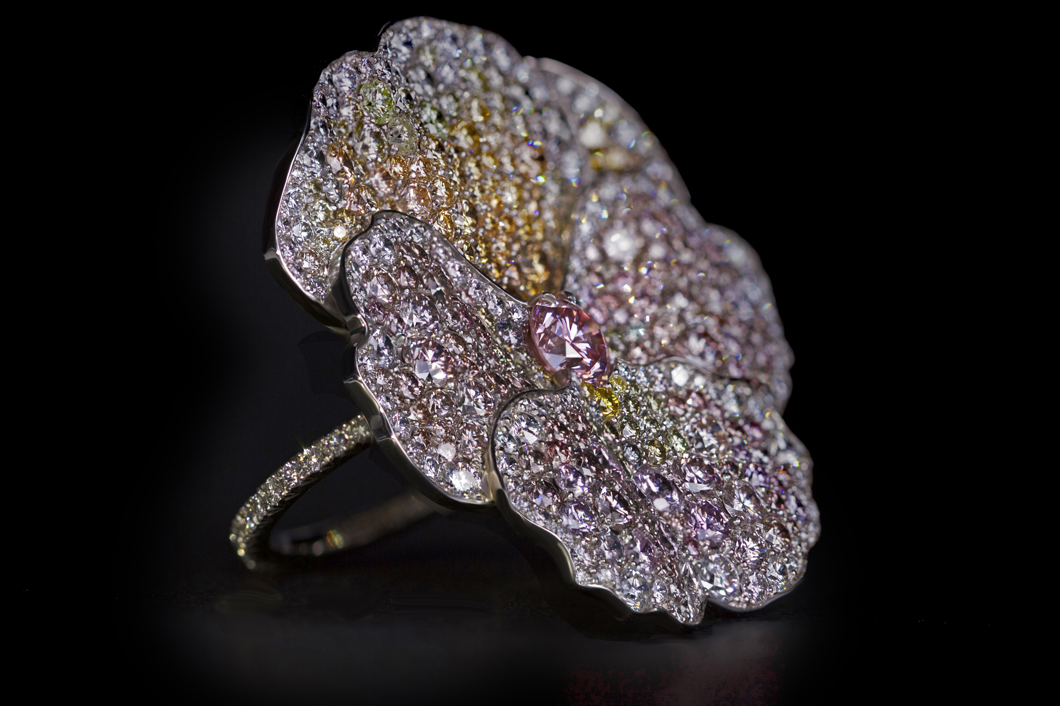 Pink Diamond Pansy Ring.