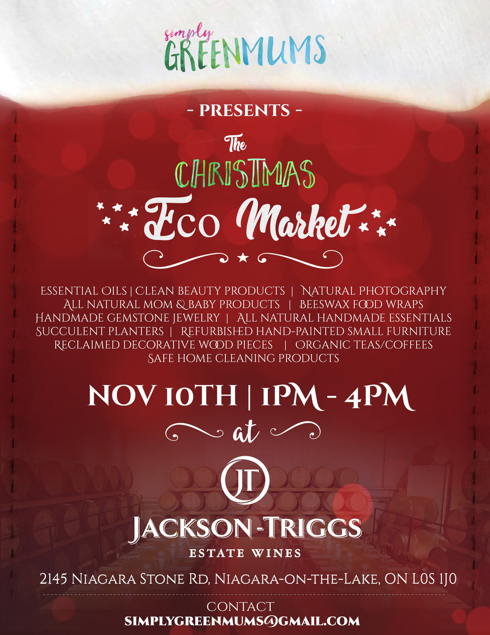 Holiday Eco Market @ Jackson Triggs!