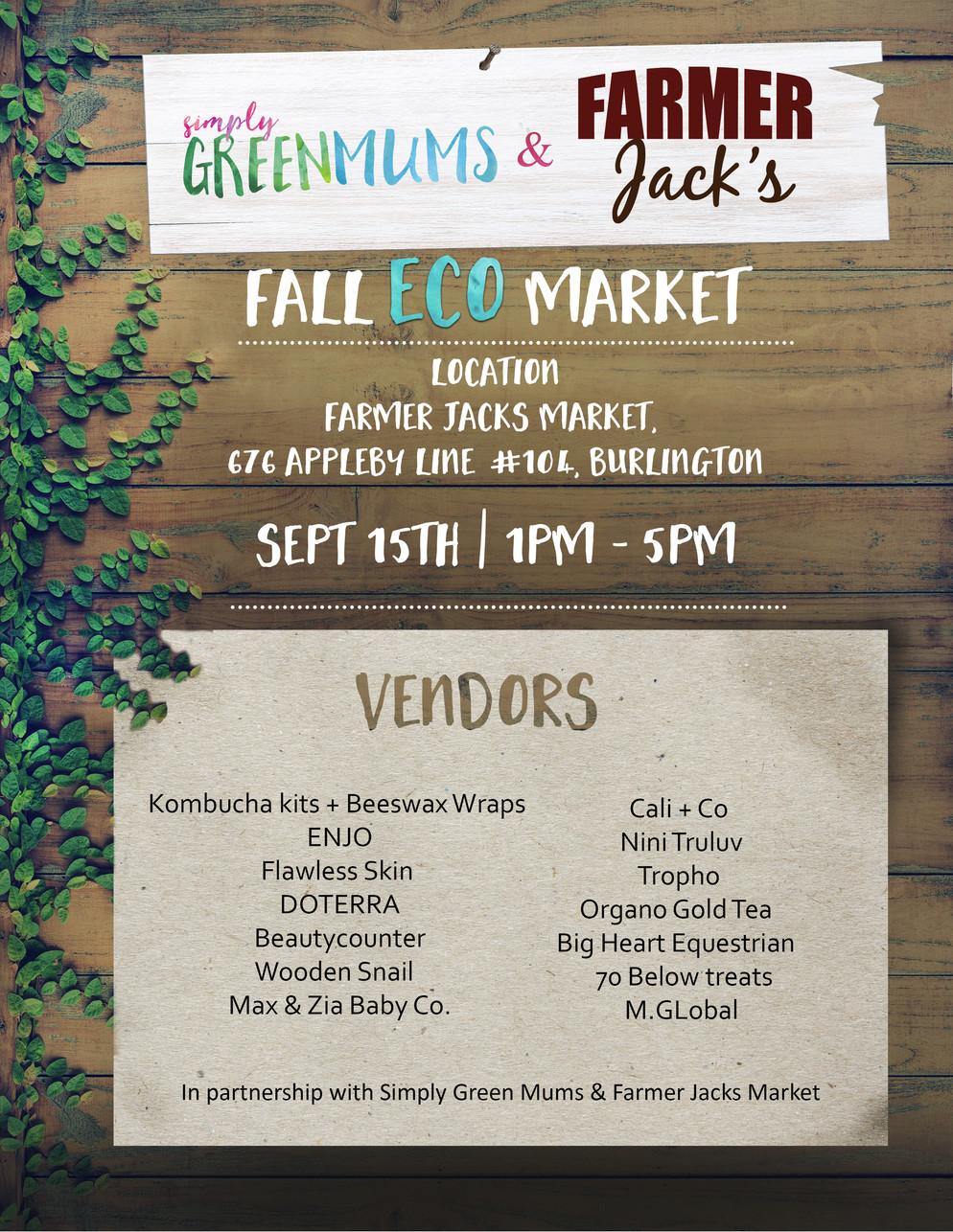 Fall Eco-Market in partnership with Farmer Jack's Market