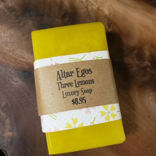 Three Lemons Luxury Soap