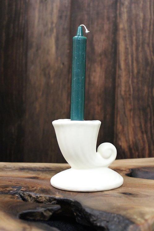 Green Taper Candle
