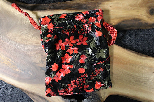 Floral (Velvet) Tarot Bag
