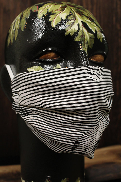 Striped Skull Reminder Mask